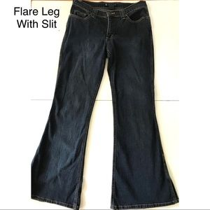 💗 EUC Vintage SO Brand Flare/Slit Jeans (7)
